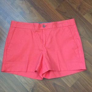 Banana Republic Hampton fit coral color shorts